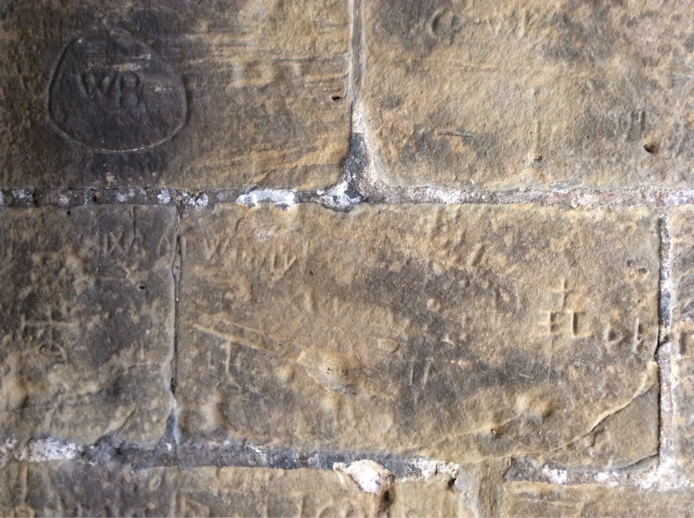 Graffiti in the Chapel of Our Lady